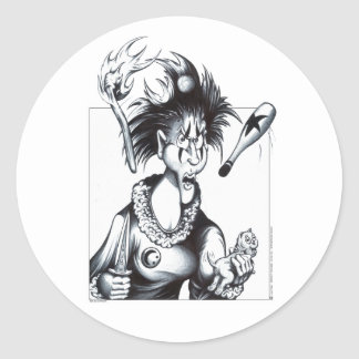 Jugs the Juggler Classic Round Sticker