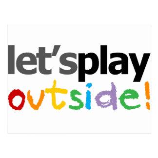 ¡Juguemos afuera! Tarjetas Postales