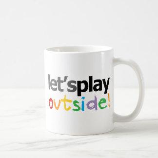 ¡Juguemos afuera! Tazas