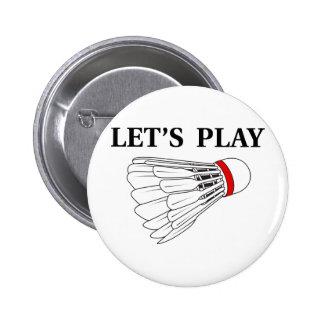 Juguemos al bádminton pins