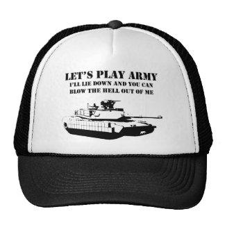 Juguemos al ejército gorros