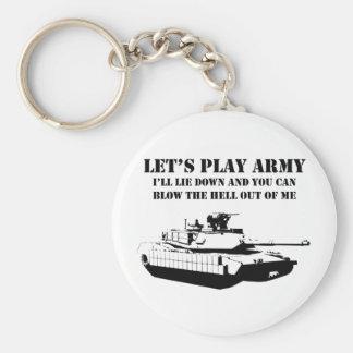Juguemos al ejército llaveros personalizados