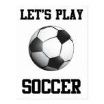 Juguemos al fútbol postales
