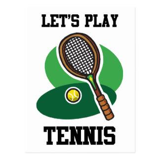 Juguemos al tenis tarjetas postales