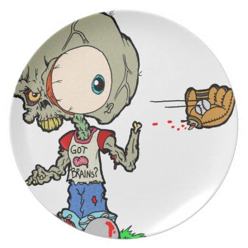 Juguemos al zombi de la captura plato de comida