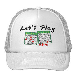 Juguemos el bingo gorros