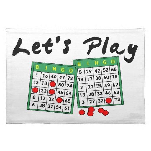 Juguemos el bingo mantel individual
