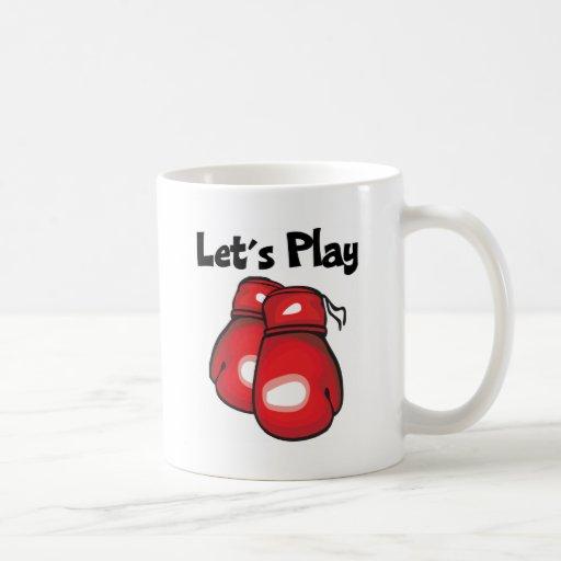 Juguemos el boxeo taza