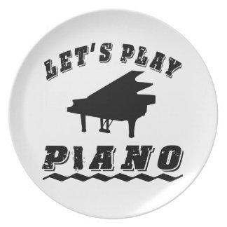 Juguemos el piano platos