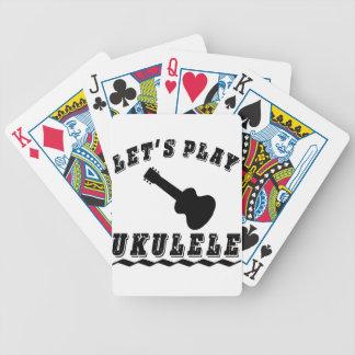 Juguemos el Ukulele Barajas De Cartas