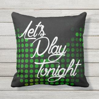 Juguemos esta noche cojín decorativo