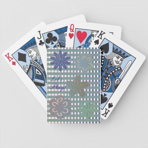 Juguemos la cubierta de tarjetas baraja cartas de poker