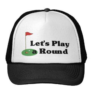 Juguemos un gorra redondo
