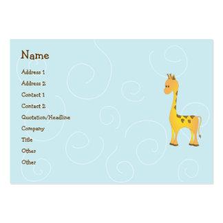 Juguete de la jirafa tarjetas de visita grandes