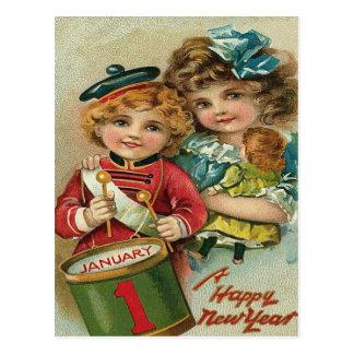 Juguete de la muñeca del muchacho del batería del tarjeta postal