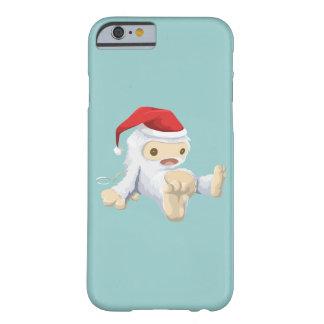 Juguete de Yeti del navidad que lleva un gorra de Funda Para iPhone 6 Barely There
