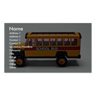 Juguete del autobús escolar para los niños tarjetas de visita