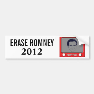 Juguete del bosquejo de Romney Pegatina De Parachoque