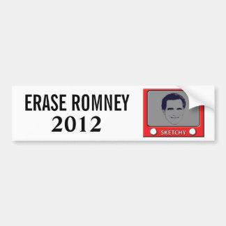 Juguete del bosquejo de Romney Pegatina Para Auto