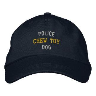 Juguete del Chew del perro policía Gorras Bordadas