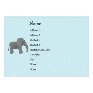 Juguete del elefante tarjetas de visita grandes