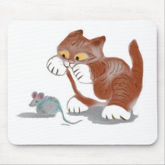 Juguete del gatito y del ratón tapetes de raton