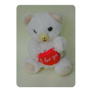 Juguete del oso de peluche invitación 12,7 x 17,8 cm