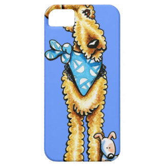 Juguete del perrito de Airedale Terrier iPhone 5 Case-Mate Carcasa