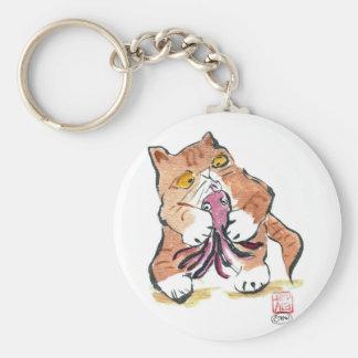 Juguete del pulpo y gatito del tigre, Sumi-e Llaveros Personalizados