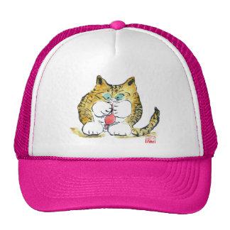 Juguete del ratón y gatito del tigre, Sumi-e Gorra
