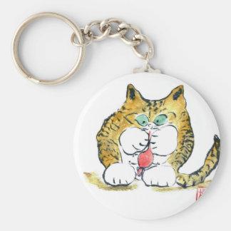 Juguete del ratón y gatito del tigre, Sumi-e Llavero
