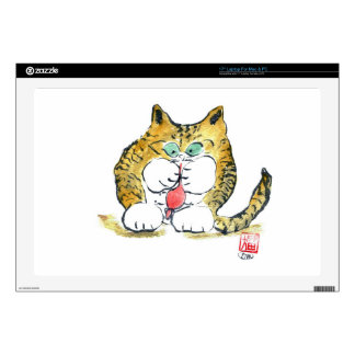 Juguete del ratón y gatito del tigre, Sumi-e Skins Para 43,2cm Portátil