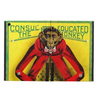 Juguete educado de la lata del mono del vintage