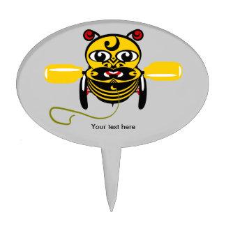 Juguete Kiwiana de la abeja de Hei Tiki Figuras Para Tartas