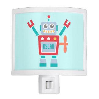 Juguete lindo del robot del vintage para el sitio lámparas de noche