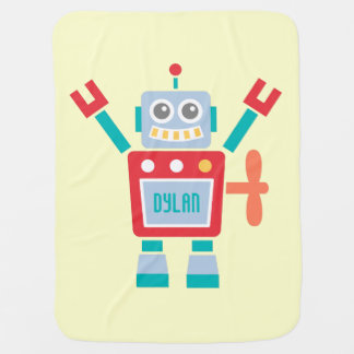 Juguete lindo del robot del vintage para los bebés mantitas para bebé