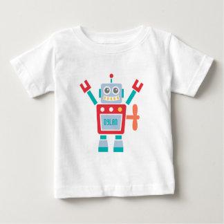 Juguete lindo del robot del vintage para los bebés playera