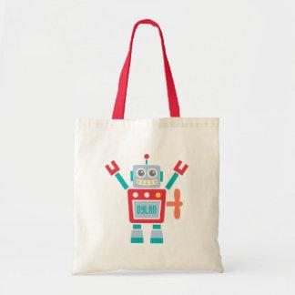 Juguete lindo del robot del vintage para los niños bolsa tela barata
