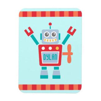 Juguete lindo del robot del vintage para los niños iman rectangular