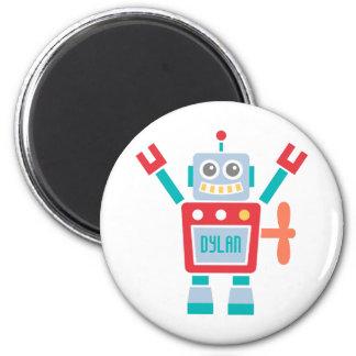 Juguete lindo del robot del vintage para los niños imán redondo 5 cm