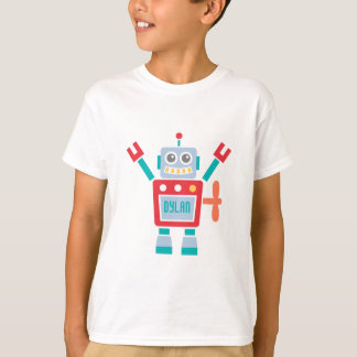 Juguete lindo del robot del vintage para los niños playera