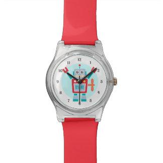 Juguete lindo del robot del vintage para los niños relojes de pulsera