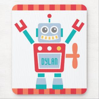 Juguete lindo del robot del vintage para los niños alfombrilla de ratón