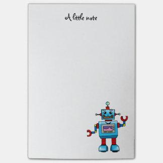 juguete lindo del robot notas post-it®