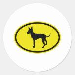 Juguete Manchester Terrier Etiquetas Redondas