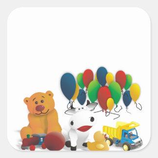 Juguete para niños pegatina cuadrada