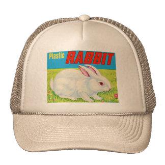 Juguete plástico retro del conejo del kitsch 60s d gorra