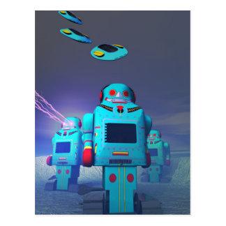 Juguete Robos en la postal del ataque