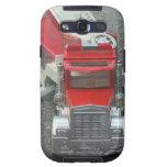 Juguete rojo del coche de bomberos del vintage samsung galaxy s3 carcasas