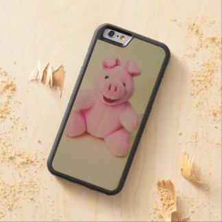 Juguete rosado del cerdo funda de iPhone 6 bumper arce